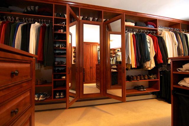 Rye, NH Walk-in Closet traditional-closet