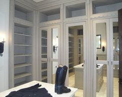 Shady Canyon French Chateau Estate mediterranean closet