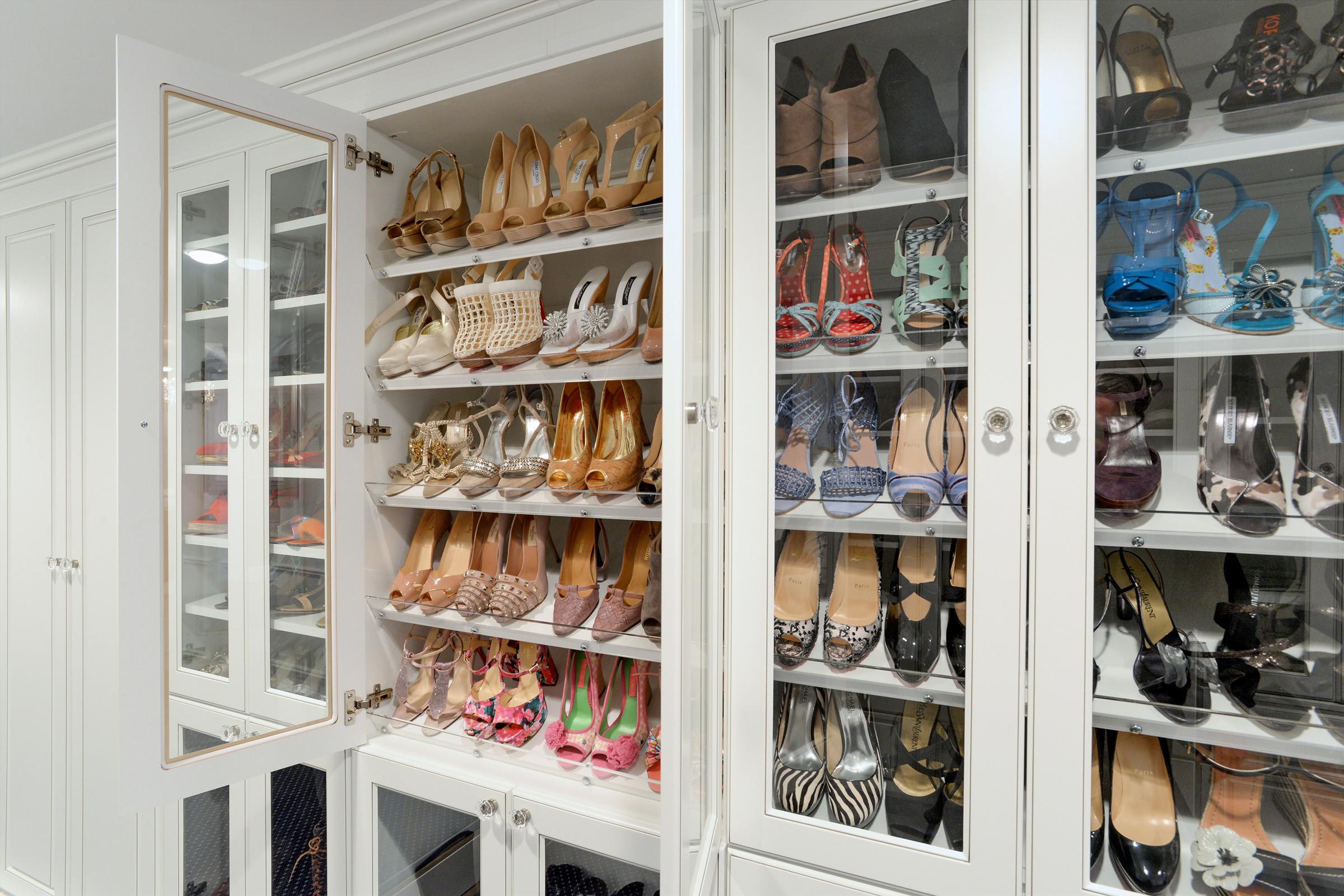 Image of: Custom Shoe Storage Houzz