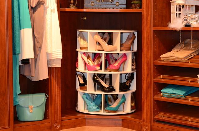 Shoecase Shoe Carouseltraditional Closet New York