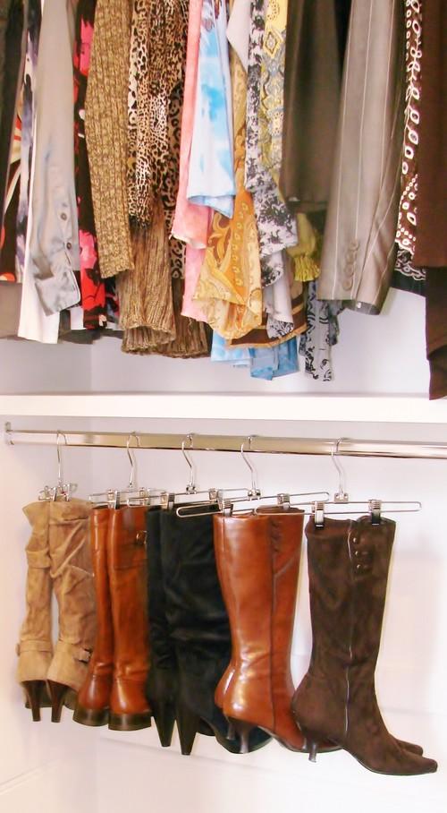 Sistemas imprescindibles para organizar tu vestidor closet for Perchas para colgar botas