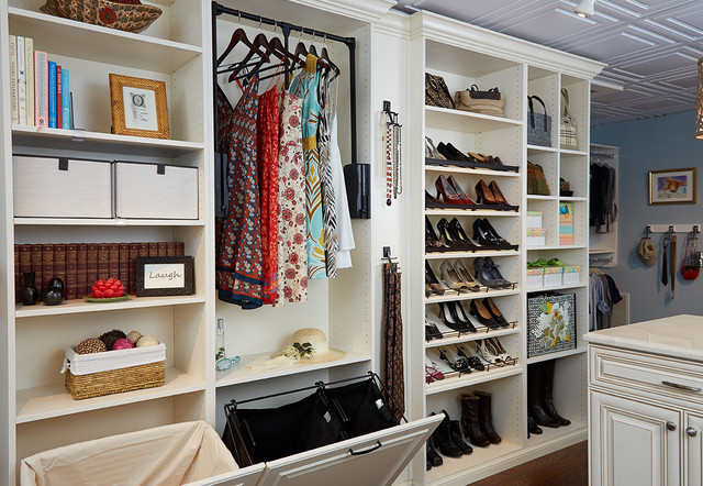 showroom traditional closet dc metro by tailored