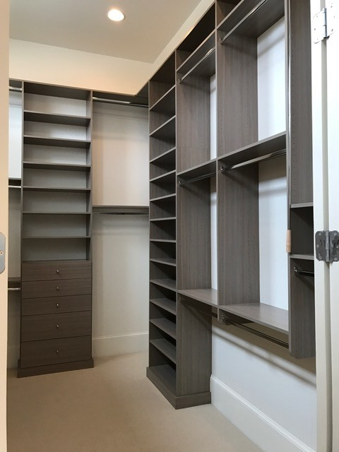 Simple Gray Tones Modern Closet New Orleans By
