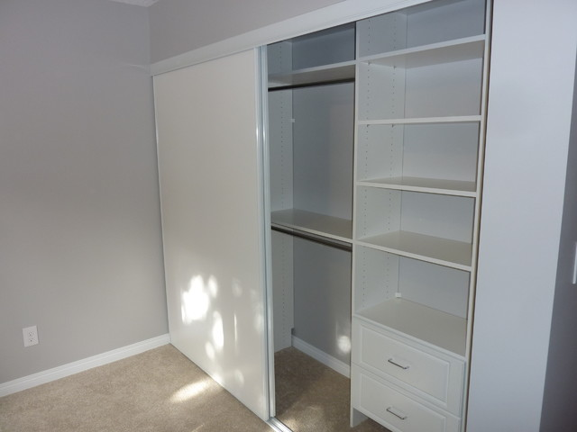 simple single closet design traditional closet calgary by kwik
