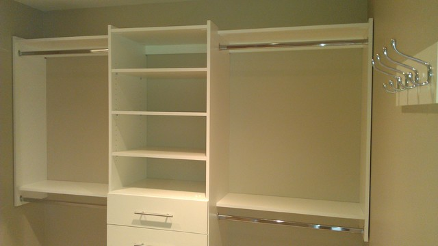 Simple Upgrade To Walk In Closet Contemporary Closet