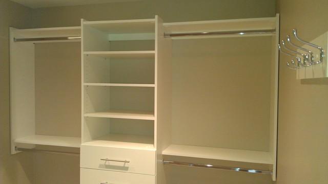 Simple Upgrade To Walk In Closet Contemporary Closet