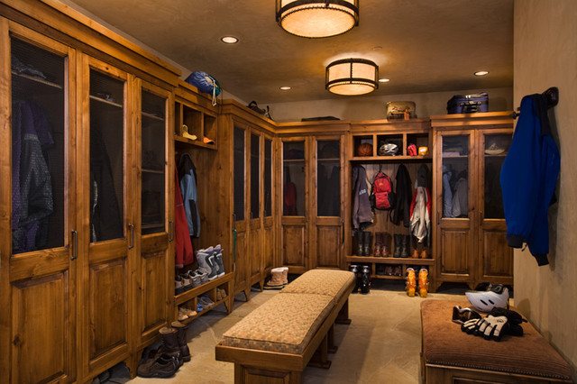 Ski Room Traditional Closet Other By Locati Architects