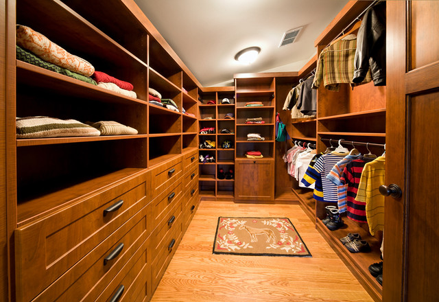 Slanted Ceiling - Traditional - Closet - chicago - by Closet Organizing Systems
