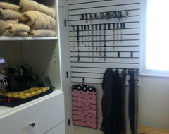 Slat-Wall Storage traditional-closet