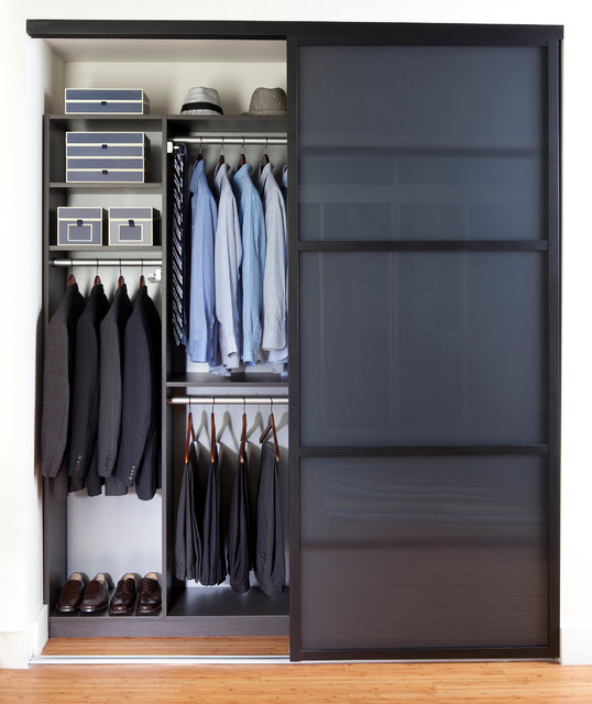 Sleek Reach In Closet Contemporary