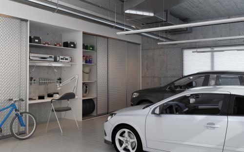 Sliding Doors For The Garage Contemporary Closet