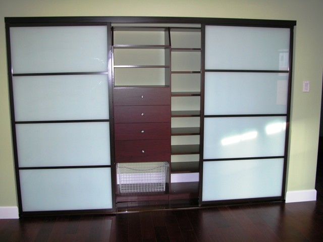 Modern Closet Doors With Frosted Glass