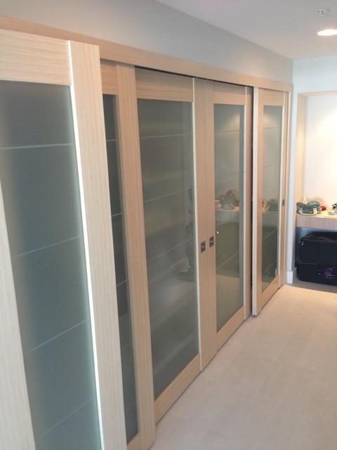 sliding doors contemporary closet miami by metro door usa. Black Bedroom Furniture Sets. Home Design Ideas