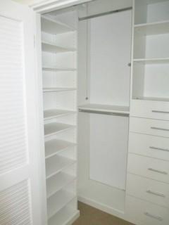 small closet space with big needs  modern  closet  los