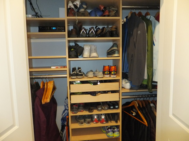 Small space storage solutions transitional closet manchester by closetplace - Small space closet solutions pict ...