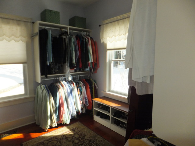 Small space storage solutions transitional closet - Small space closet solutions pict ...