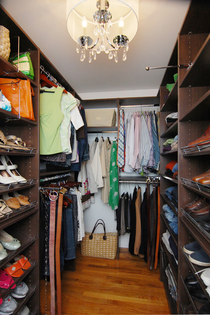 Small Walk-in Closet, Annapolis contemporary-closet