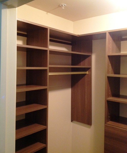 Small Walk In Closet contemporary-closet