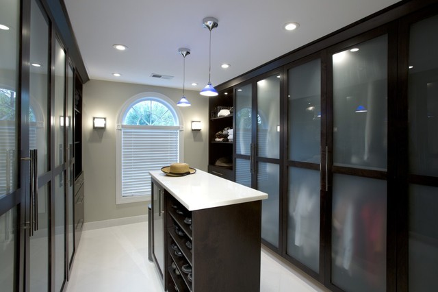 Spa Treatment At Home With Stunning Bath And Walk In Closet Modern Closet