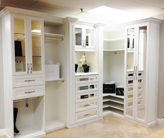 Master Bedroom Closet spectacular master bedroom closets - traditional - closet - miami