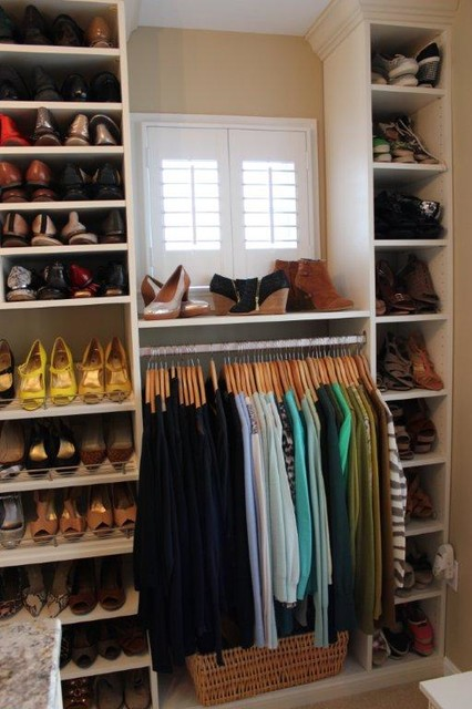 Spectacular Shoe Storage contemporary closet