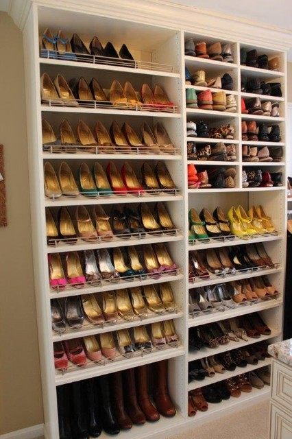 Spectacular shoe storage contemporary closet dc for Diy wall shelves for shoes