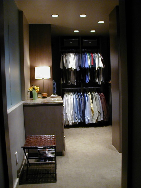 Steel St. Residence contemporary-closet