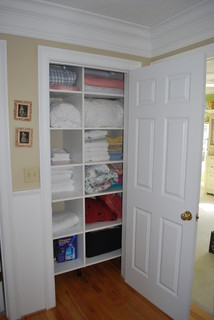 contemporary closet design by boston closets and organization Stephanie Bonini