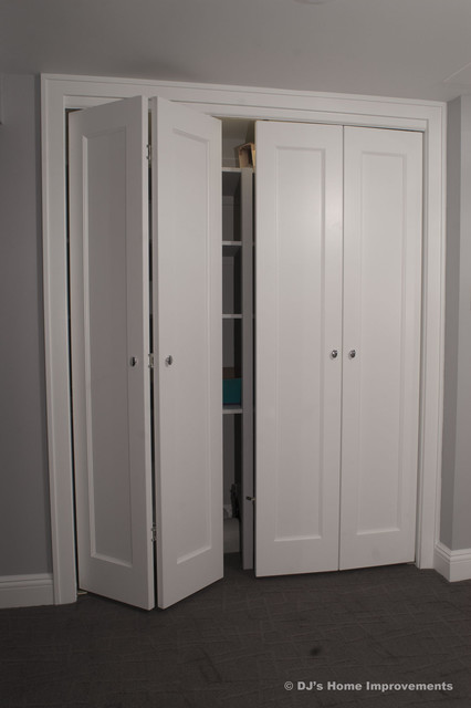 Storage and Closets in Basement by DJ's Home Improvements closet