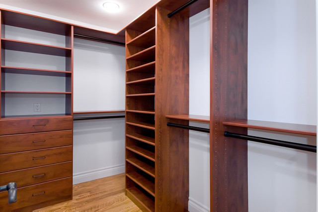 Storage Solutions in Closets and Garage traditional closet