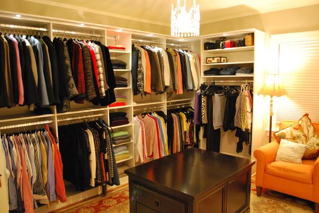 Beautiful Stunning Womenu0027s Walk In Closet With Lighting Traditional Closet