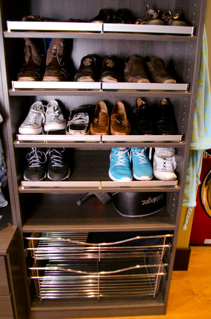 Tall Closet with Laundry - Modern - Closet - indianapolis - by California Closets of Indianapolis