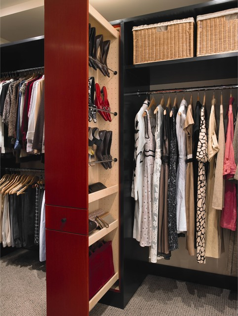 Linear Solutions Closet by Wood-Mode contemporary closet