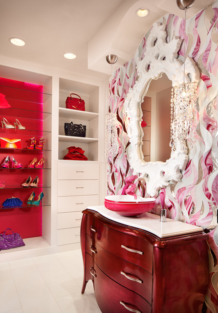 Teen Girls Bath and Bedroom San Antonio, TX contemporary-closet