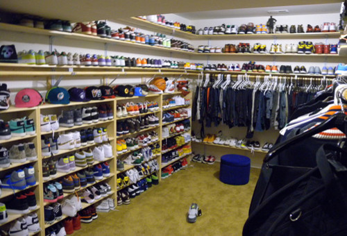 Teen's Sneaker Paradise contemporary-closet