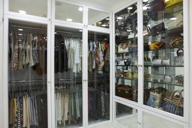 The Antiqued Mirror Boutique Contemporary Closet Los Angeles
