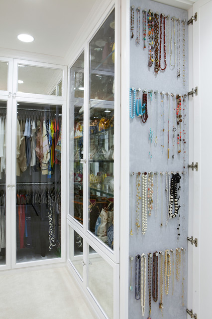 The Antiqued Mirror Boutique Contemporary Closet