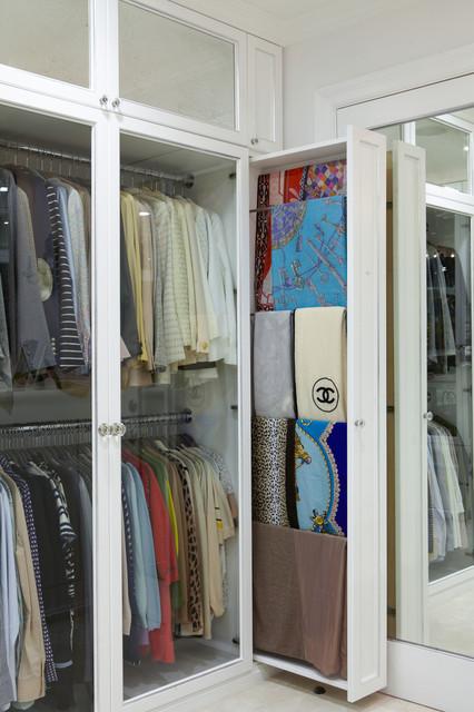 The Antiqued Mirror Boutique   Contemporary   Wardrobe   Los Angeles   By  Lisa Adams, LA Closet Design