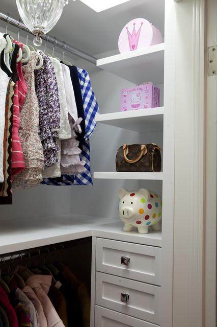 The Girl's White Closet modern-closet