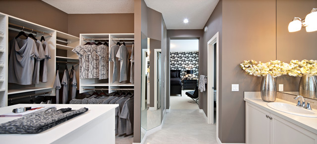 The Hawthorne - Wide Angle View of Bathroom - traditional - closet