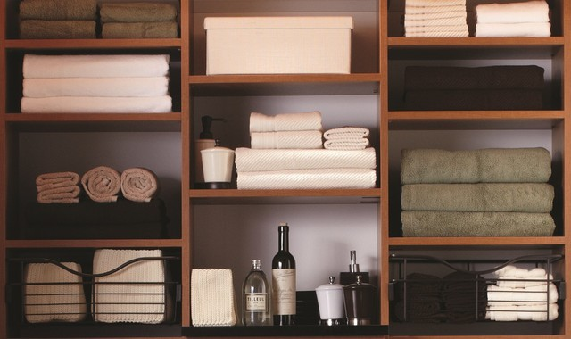 The Most Beautiful Linen Closet! Contemporary Closet