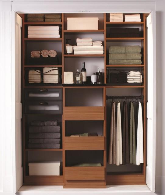 The Most Beautiful Linen Closet! Contemporary Closet