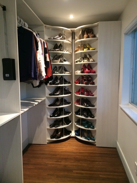 the s works sample space closet hang revolving of feet slide rack rotating includes hanging double organizer