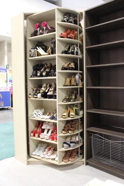 The Revolving Closet Organizer Manually Rotates 360 Degree Contemporary Jacksonville
