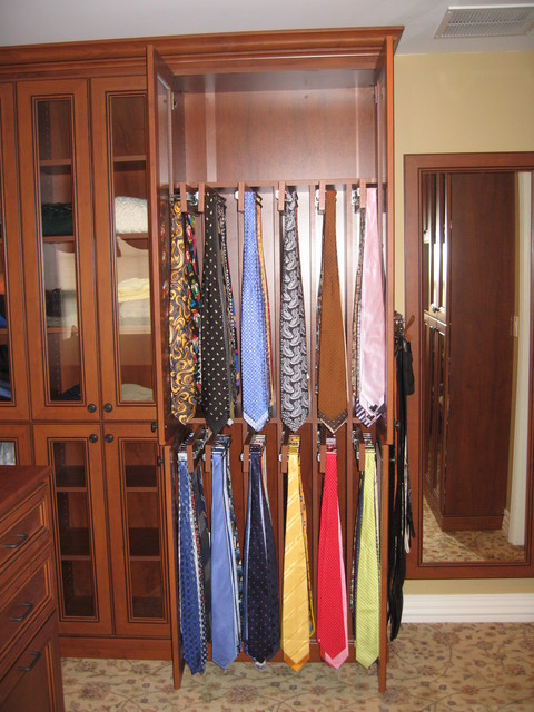 Tie Cabinets - Traditional - Closet - New York - by Rylex Custom Cabinetry and Closets