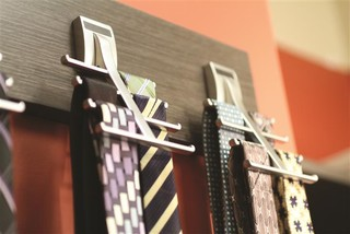 Tie Racks contemporaneo-armario