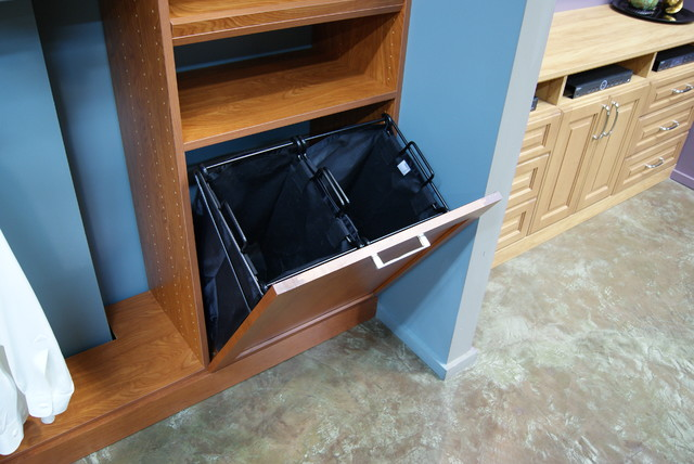 Tilt Out Laundry Hampers Spacemanager Closets Traditional Wardrobe Houston By Spacemanager Closets Houzz Au
