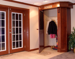 Towson Cinema Pub Finished Basement traditional-closet