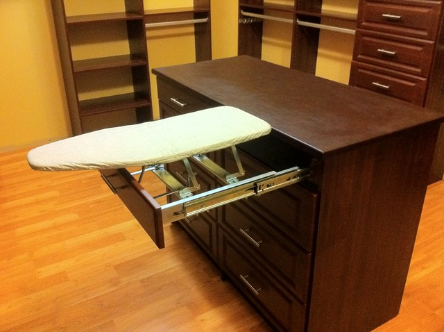 Merveilleux Island With Ironing Board   Traditional   Closet   New York ...