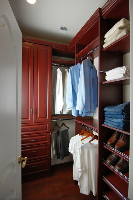 His and hers walk in closet potomac md traditional for His and hers closet